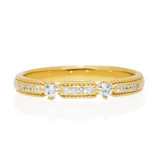 "Hatae jewelry ""Hanna"" K18YG Jewelry diamond ring"