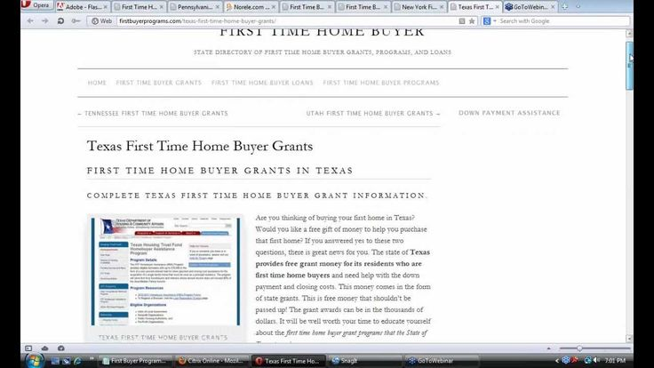 This is a great list of all the first time property buyer grants, incentives, and programs available in Texas.