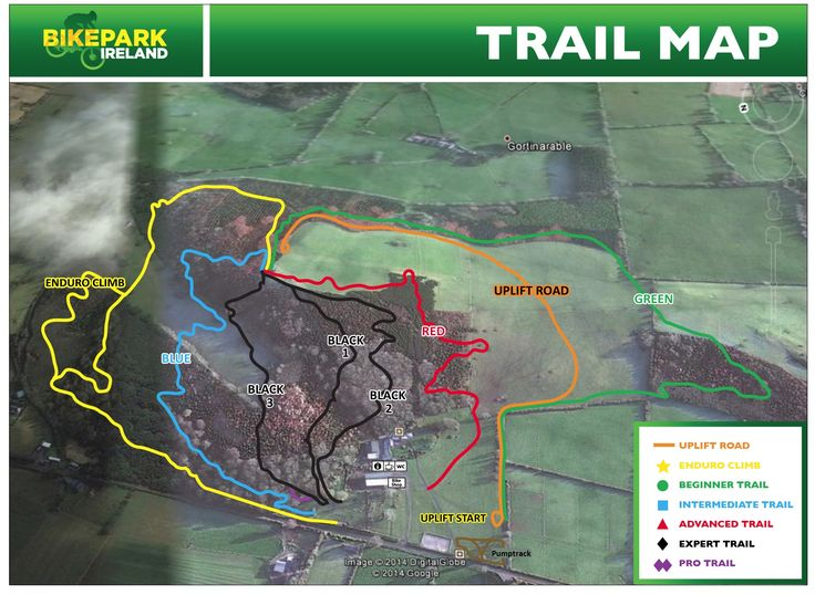 Our Trail Map! Bike Park Ireland is like skiing on mountain bikes!