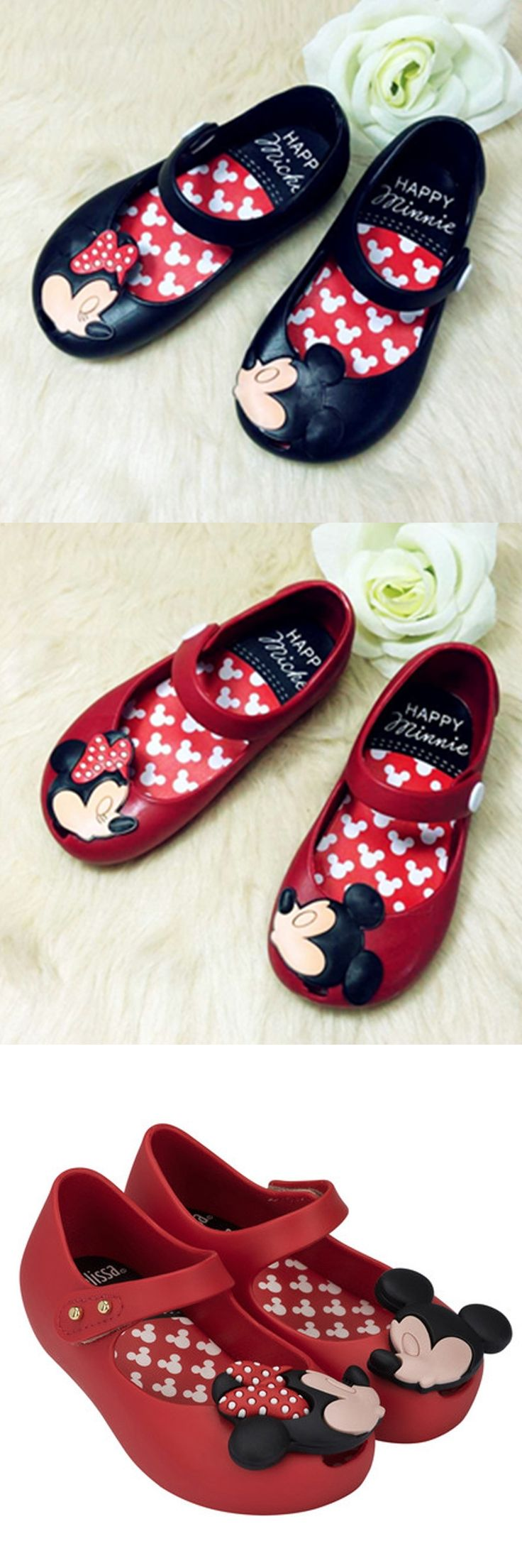 High Quality 2017 Mini Melissa Shoes For Girls Sandals For Girls Cheap Melissa Girls Mickey & Minnie Cartoon Shoes Kids Shoes