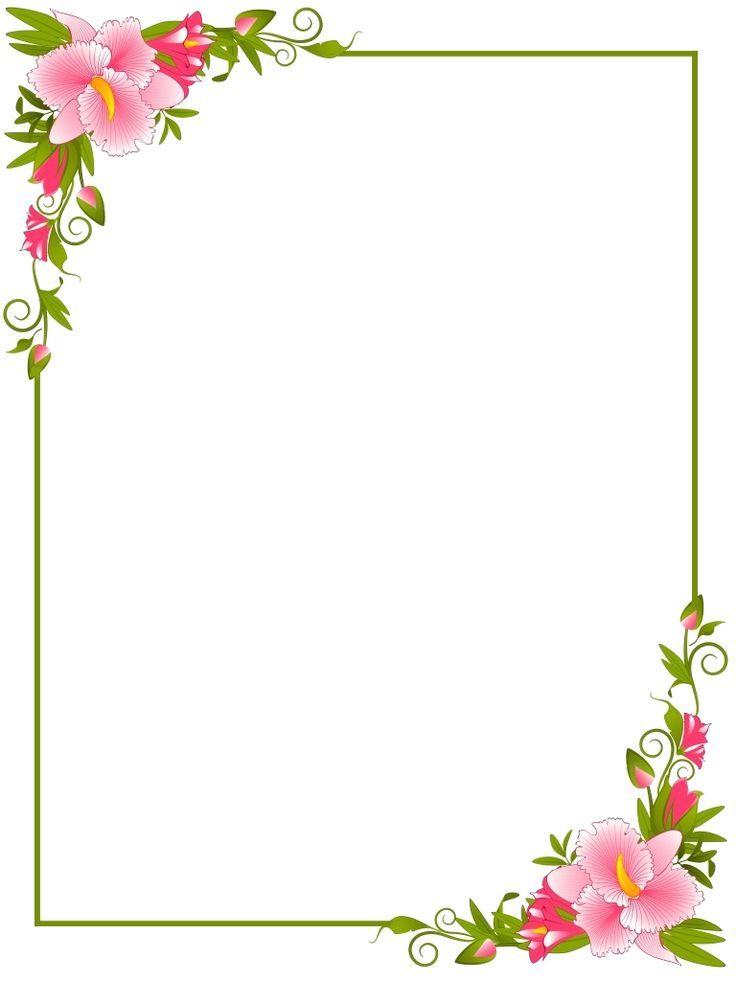 Floral Boarder Wallpaper Floral Border Design Floral Watercolor