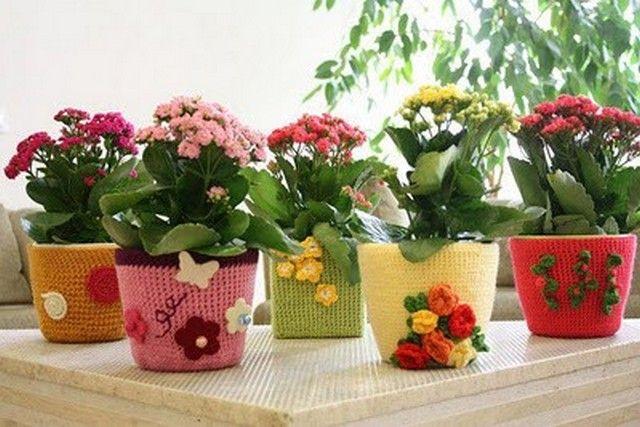 Как украсить цветочный горшок кружевом, ракушками, мозайкой, тканью, крупами и веточками своими руками (39 фото) | Аксессуары | DecorWind.ru