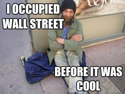 I occupied wall street before it was cool