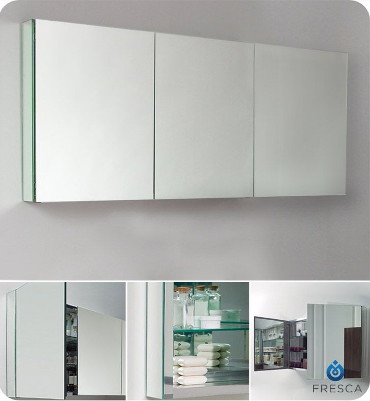 Digital Art Gallery Fresca Wide Bathroom Medicine Cabinet with Mirrors