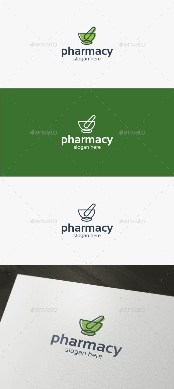 Pharmacy - Logo Template,bio, botanical, brand, chemical, clinic, drug, drugstore, eco, ecology, environment, green, health, herb, herbal, hospital, lab, laboratory, leaf, medical, medicine, natural, pharm, pharmacy, plant, pounder, science, solution