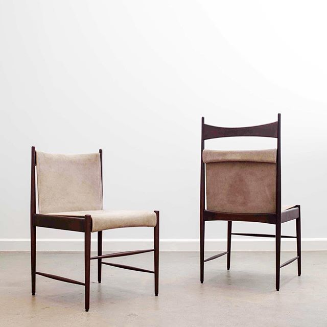 "An early design by Sergio Rodrigues, the ""Cantu"" dining chair comes in low and high back versions. The design was awarded in the IV Furniture Bienal in Italy in 1961. The authentic re-editions are available in the US and the UK exclusively through ESPASSO"