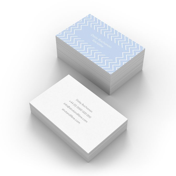 Buchanan – one of our Pattern business card templates available to customise and order on our site.