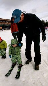 Ten tips for skiing with toddlers. Click through for the tips, the gear and videos of little dudes shredding!