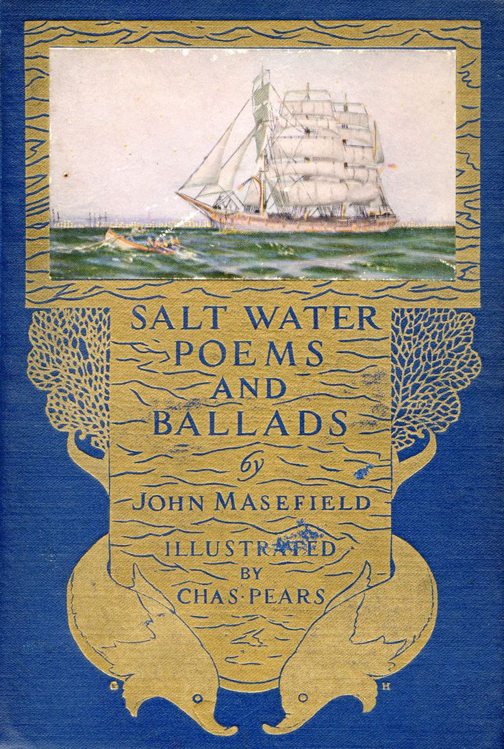 ≈ Beautiful Antique Books ≈   Salt Water Poems and Ballads...John Masefield   c.1924