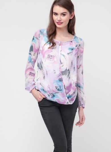 Buy Elle Off White Printed Blouse for Women Online India, Best Prices, Reviews | EL144WA64RJBINDFAS