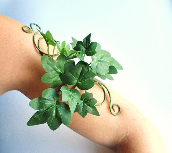 Poison ivy Green woman green man tree people upper arm cuff  ivy leaves whimsical woodland festival jewelry