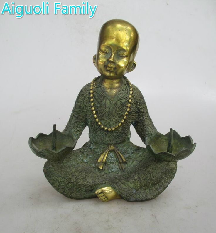 easy ways to Original Price US $200.00 Sale Price US $120.00 Rare chinese old bronze handmade monk candlestick  metal candlestick craft for home art decoration #Candles#Holders