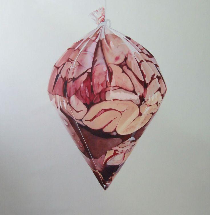 Fábio Magalhães hyperrealist body horror painting