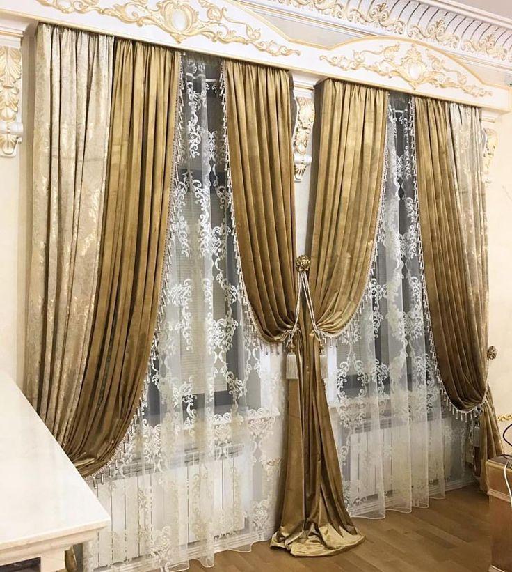 расхода шторы дизайн для зала в картинках ламбрекены