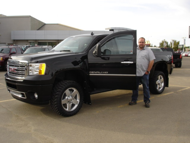 Mud Flaps For Lifted Trucks >> Henry takes delivery of his 2013 GMC 2500 DENALI. Henry ...