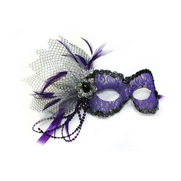 purple lace masquerade mask for women liked on polyvore featuring costumes masquerade halloween costumes - Halloween Costumes With A Masquerade Mask