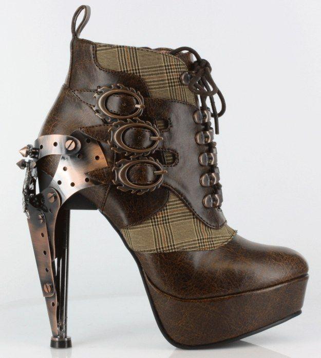 Estos botines steampunk con cordones