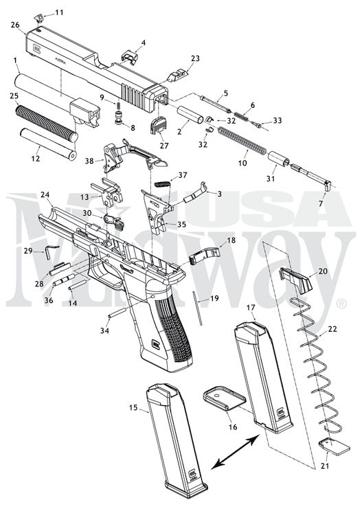 Full Size Glock Schematic Is Here At Glock