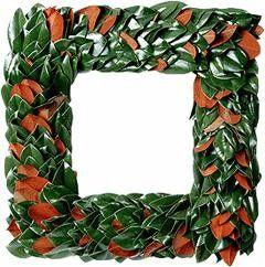 Fresh Original Magnolia Square Christmas Wreath-Available in Two Different Sizes www.wellappointedhouse.com