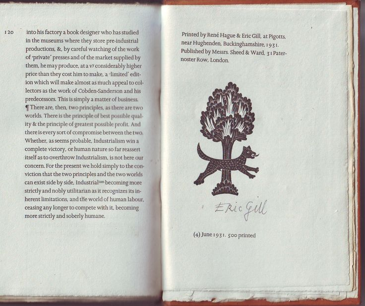 eric gill an essay on typography Modern typography, 2nd edition is a completely updated and revised edition of  robin kinross's classic survey of european and north.