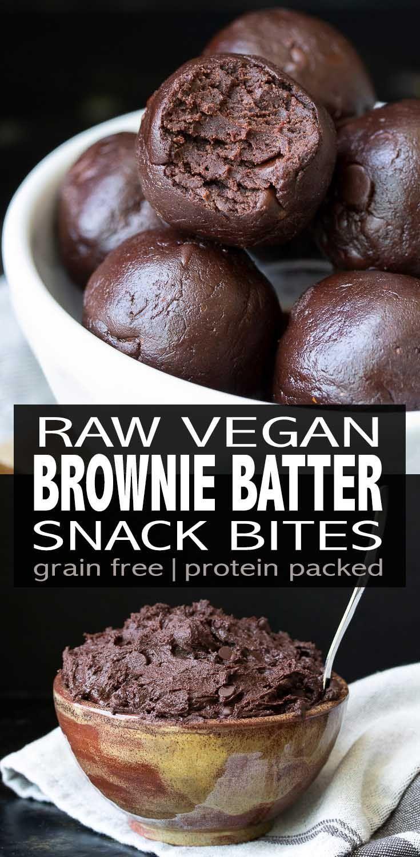 Raw Vegan Protein Packed Brownie Batter Bites