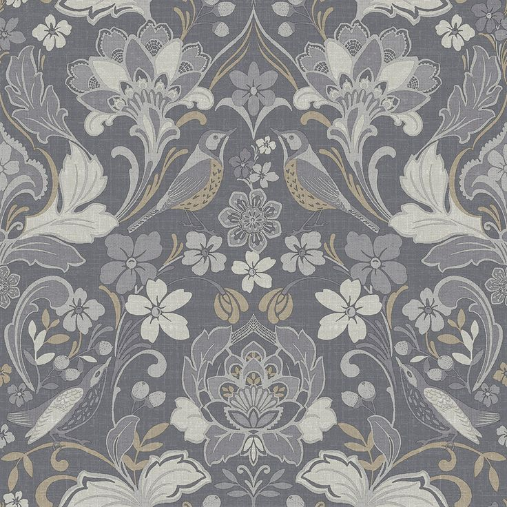 Folk Floral by Arthouse Grey Wallpaper 676003 in