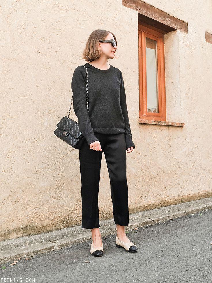 Trini   Equipment sweater - Chanel bag - Chanel ballet flats