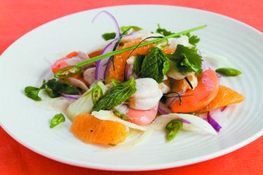 Scallop, fish and fennel ceviche