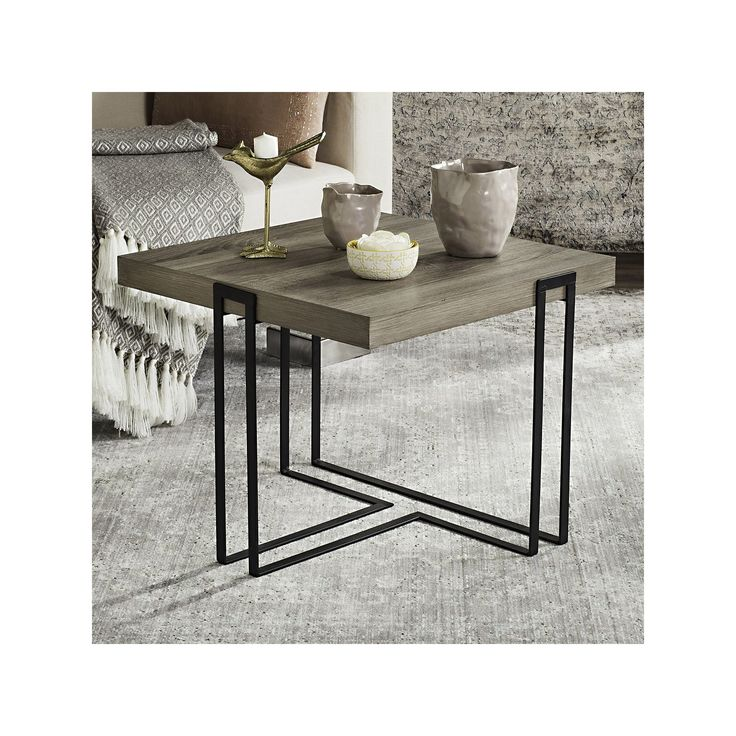 safavieh modern contemporary end table grey other