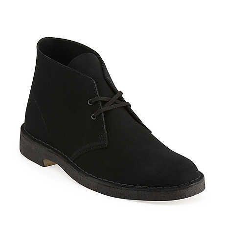 Desert Boot-Men in Black Suede - Mens Boots from Clarks $120 +