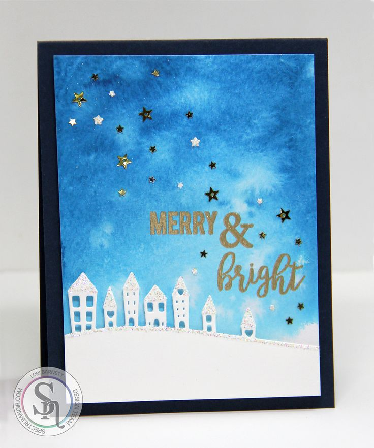 I've got another holiday card to share with you. Aren't you so excited? LOL   Over at Spectrum Noir , we have our November Monthly Challenge...