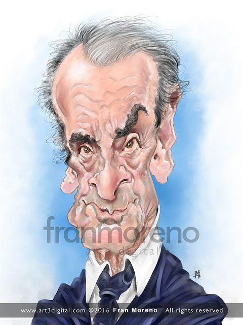 Caricatura del mundialmente famoso banquero Mario Conde, hoy de actualidad, realizada por el artist...