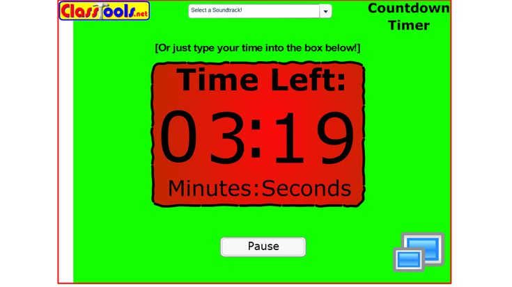 Classroom timer - with different music - Mission Impossible, Dr Who, Star Wars