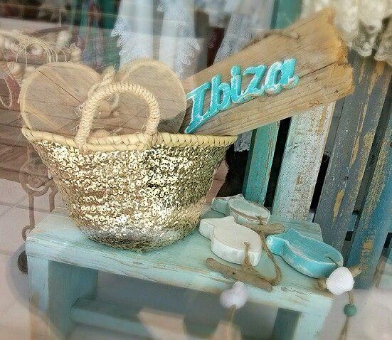 Capazo lentejuelas Ibiza