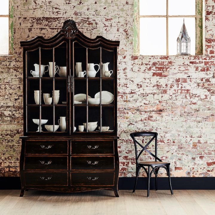 Armoire Amour - French inspired armoires create a striking feature for you to showcase all of your collectables, earthenware or glassware in style.