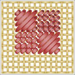 Checkered Scotch Stitch