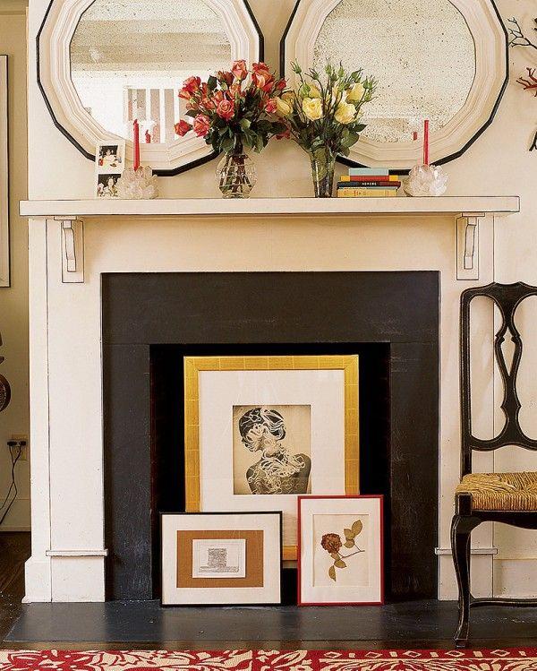 Unused fireplace ideas - Little Piece Of Me                                                                                                                                                                                 More