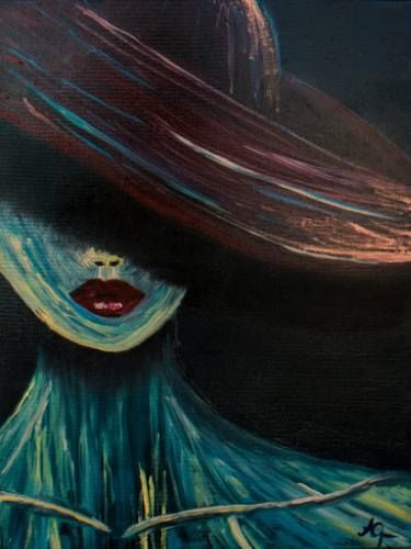 Mysterious Woman #art #painting #portrait