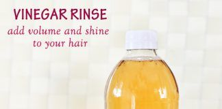 Vinegar Hair Rinse to add volume and shine to your hair