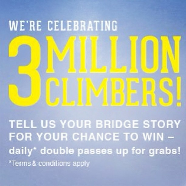 We're celebrating 3 million climbers! Competition ends 17 May, 2013.