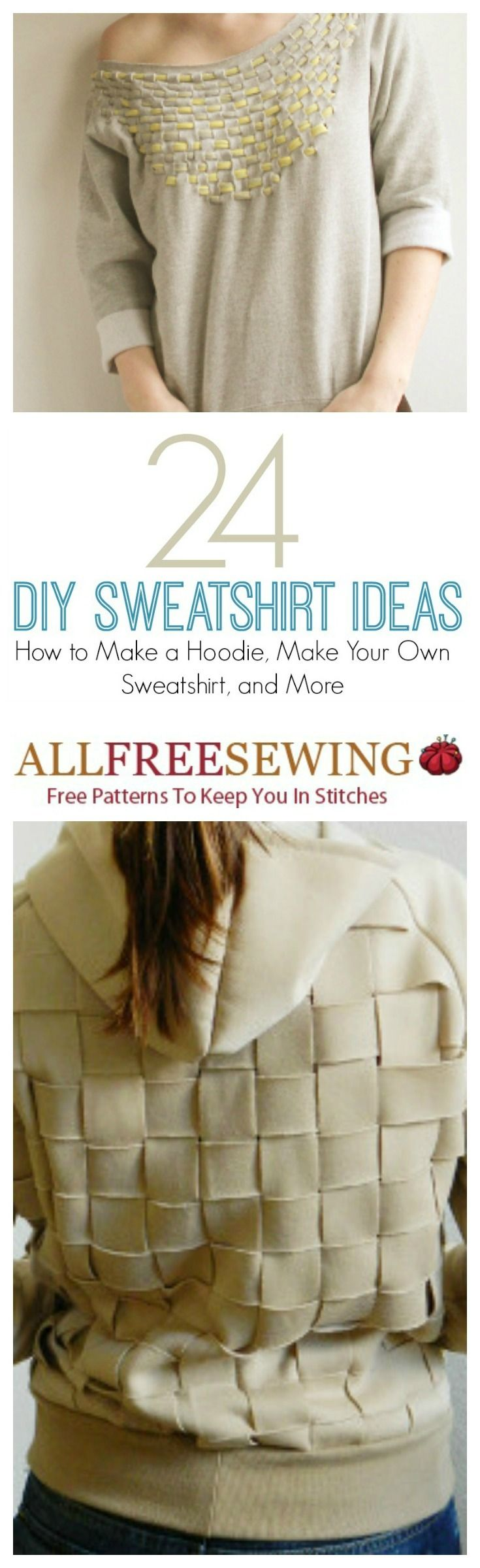 24 DIY Sweatshirt Ideas: How to Make a Hoodie, Make Your Own Sweatshirt, and More | AllFreeSewing.com