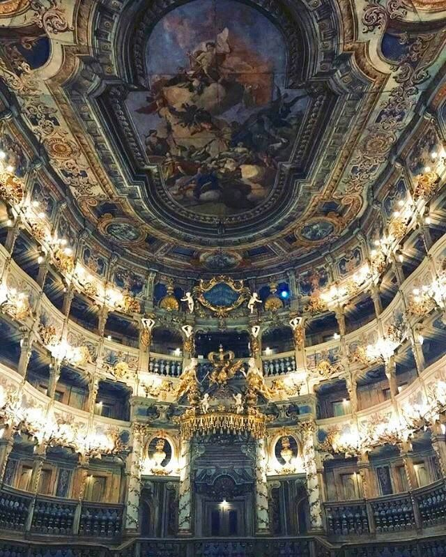 Culture Travel The Margravial Opera House In Bayreuth Germany Is A Theater House Of The 18th Cent Architecture Beautiful Architecture Unique Architecture