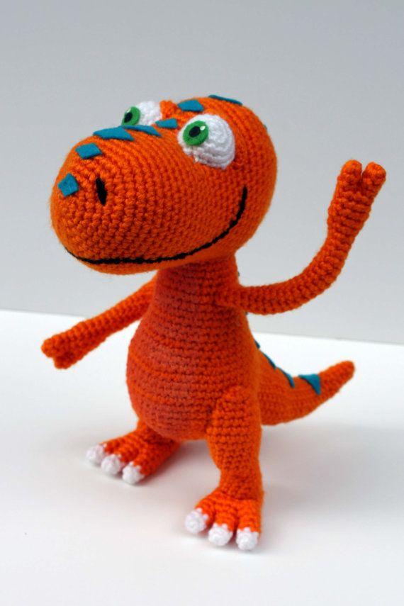 Crochet Pattern: Buddy the T-Rex Dinosaur Train by MilesofCrochet