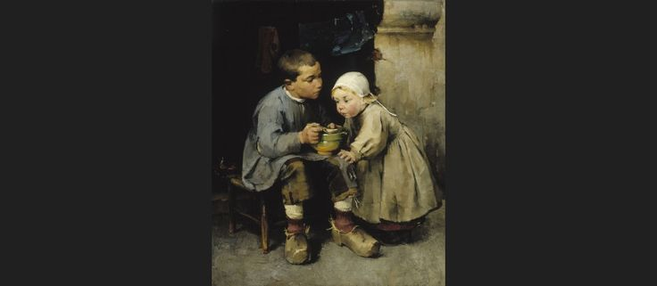 Helene Schjerfbeck - Pikkusiskoaan ruokkiva poika 1881. http://www.ateneum.fi/fi/pikkusiskoaan-ruokkiva-poika -- keskustelukysymyksiä. ...