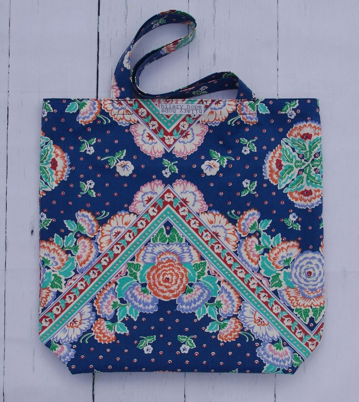 for the bandana lovers! Fresh fall floral tote bags handcrafted from repurposed materials and reversible...slow fashion at its finest, for all yer stuff!