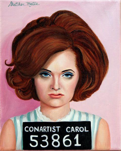 Con-artist Carol  Original Oil Painting by Gretchen Matta