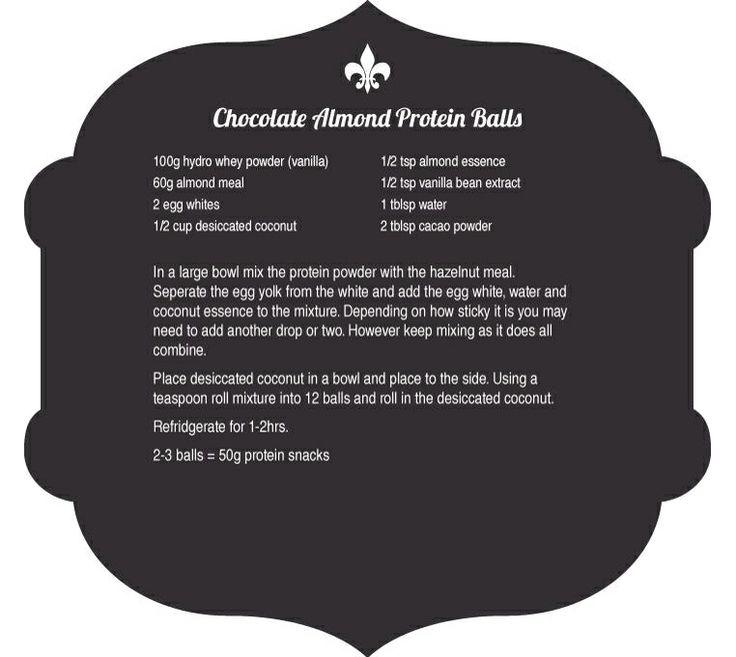 Chic Protein Balls - Recipe