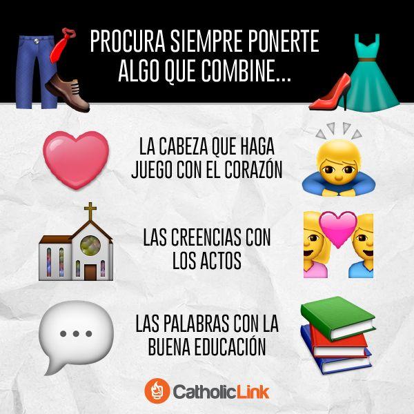 Biblioteca de Catholic-Link - Procura ponerte siempre algo que combine.