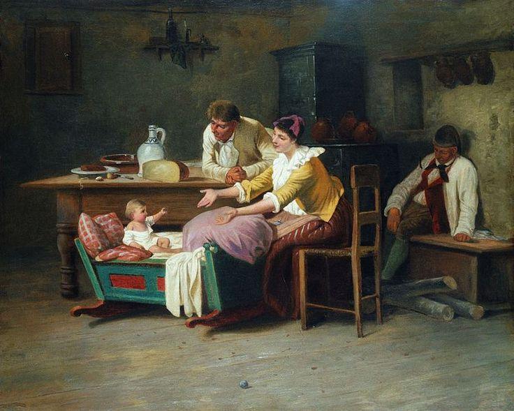 Mihály Munkácsy (1844–1900), Paraszt interieur, 1866