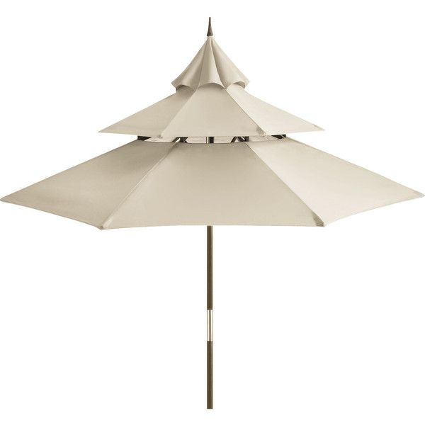 Pier 1 Imports Sand Pagoda Umbrella ($200) ❤ Liked On Polyvore Featuring  Home,